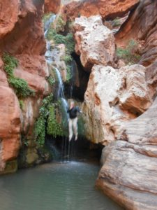 My plunge from the Elves Chasm waterfall.